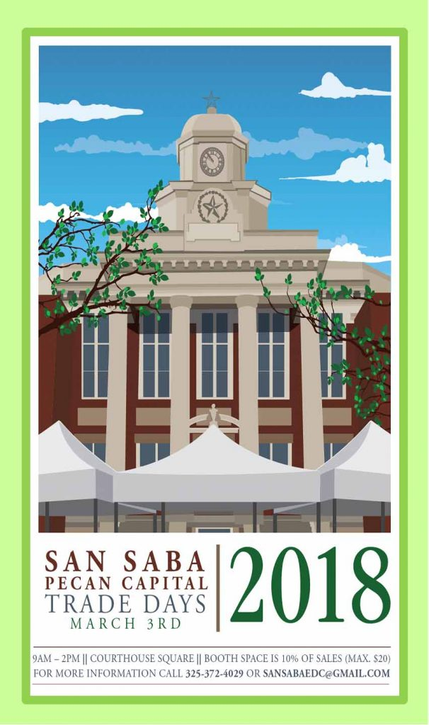 Pecan Capital Trade Day @ County Courthouse Square | San Saba | Texas | United States