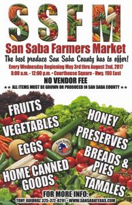 San Saba County Farmer's Market @ San Saba County Courthouse | San Saba | Texas | United States