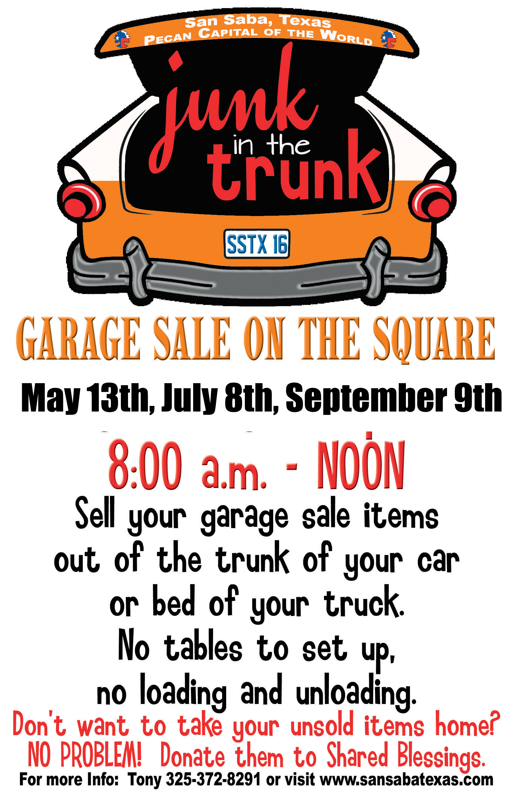 Junk in the Trunk - San Saba Chamber