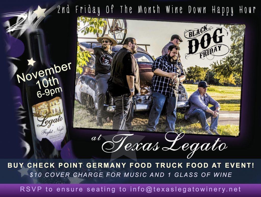 Texas Legato Wine Down Happy Hour @ Texas Legato Winery   Lampasas   Texas   United States