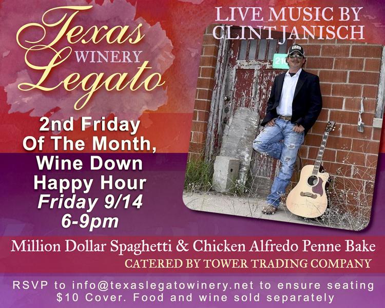 "Texas Legato ""Wine Down"" Happy Hour @ Texas Legato Winery | Lampasas | Texas | United States"