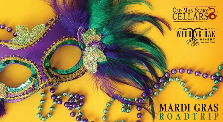 WOW Mardi Gras Road Trip @ Wedding Oak Winery | San Saba | Texas | United States