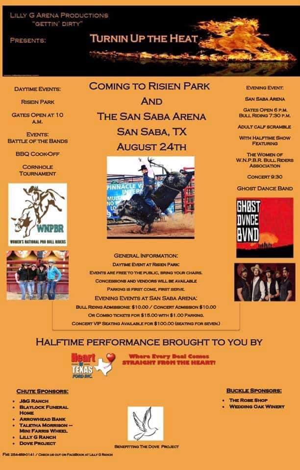 Turnin' Up the Heat @ San Saba Rodeo Arena