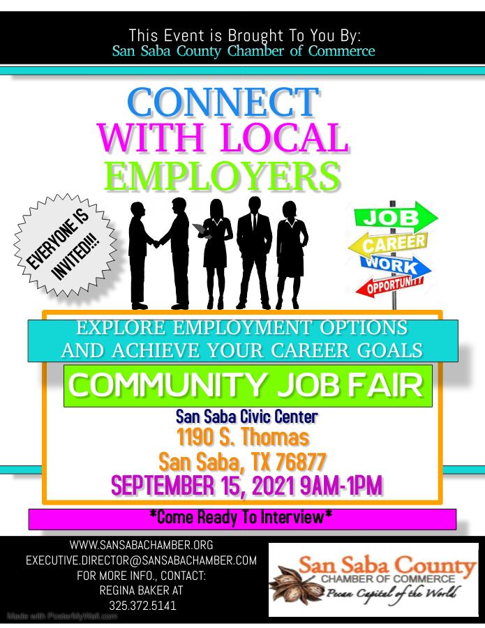 Job Fair 9-15-21 in San Saba County